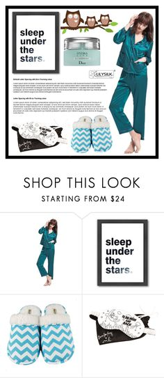 """""""Sleepover LILYSILK 7."""" by amra-sarajlic ❤ liked on Polyvore featuring Americanflat, Leisureland, Morgan Lane and Christian Dior"""