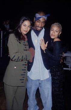 """Tupac Shakur, Jada Pinkett and Salli Richardson at an event for """"A Low Down Dirty Shame"""" on March 90s Hip Hop, Hip Hop And R&b, Hip Hop Rap, Tupac And Jada, New School Hip Hop, Hiphop, Rapper, Tupac Makaveli, Tupac Pictures"""