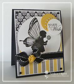 The Stamping Scrapbooker: Sketch For You to Try-June 2012 *Lil Inkers*--LOVE this black/yellow/grey combo!