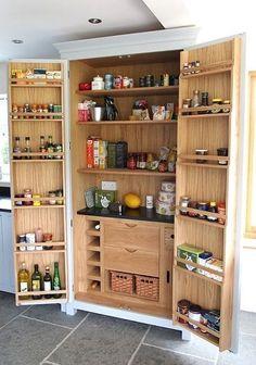 Higham kitchens Shamley Green Oak #Interior Larder