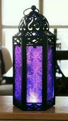 All the sh - Elegant Purple Table/hanging Hexagon Moroccan Candle Lantern Holders Purple Love, All Things Purple, Purple Glass, Shades Of Purple, Purple Stuff, Purple Colors, Purple Accents, Periwinkle, Magenta