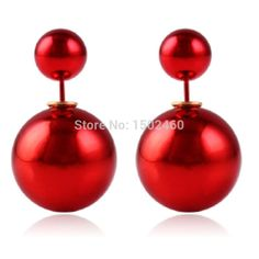 Find More Stud Earrings Information about fine jewelry brincos bijoux pendientes 1 pair red ball Studs Earrings  brand earings brincos de festa fashion,High Quality jewelry holder display stand,China jewelry chandelier earrings Suppliers, Cheap jewelry sapphire earrings from AliExpress million Store on Aliexpress.com