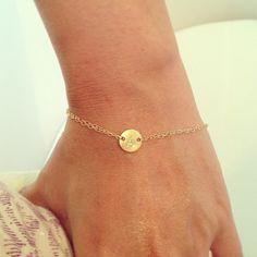 Personnalisé Bracelet initiale - Double brin Initial Bracelet - Bracelet tous les jours