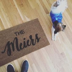 Does this get any better? This pup, and this doormat! 👉🏼 Link to order your custom welcome mat in our bio. Insta Followers, Welcome Mats, Doormat, Pup, Link, Instagram Posts, Etsy, Decor, Decoration