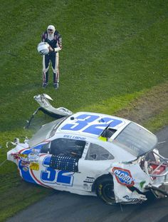 WTF!! I SURVIVED THAT?WOW,look at my car,what's left of it anyways...that's Daytona!!