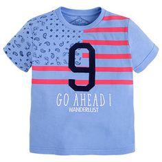 Camiseta de manga corta con serigrafía Azules
