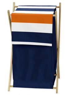 Shop for Sweet Jojo Designs Stripe Collection Navy Blue/Grey Wood/Mesh Laundry Hamper. Get free delivery On EVERYTHING* Overstock - Your Online Baby Furniture Shop! Blue And White Fabric, Blue Grey, Color Blue, Gray, Navy Nursery, Baby Nursery Furniture, Nursery Ideas, Laundry Hamper, Baby Kids Clothes