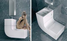 combi wastafel toilet