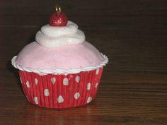 Polymer clay cupcake by gingerbread fair