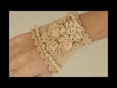 Pulseras o muñequeras tejidas a crochet 2016-2017 - YouTube