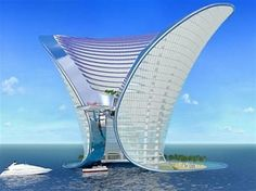 Apeiron Island Hotel, Dubai Architecture - acceptablilty depends on setting and this apparently fits Dubai.