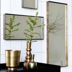 Miroir Rectangulaire Reflection Bord Noir House Doctor