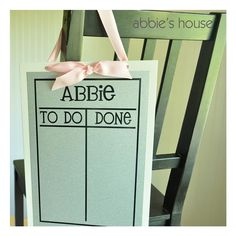 Chore Chart  White by AbbiesHouse on Etsy, $20.00
