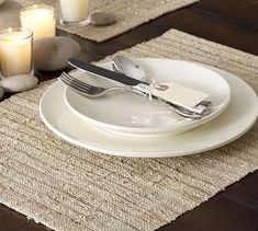 Nubby Place Mat, Set of 4 #potterybarn