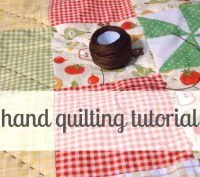 hand quilting tutorial.