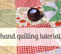 hand quilting tutorial