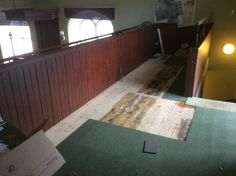 On the gallery we are creating a children's activity area. This is at the clearing stage