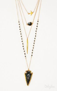 Delezhen's already-arranged necklace sets take the guesswork out of jewelry layering. #etsy