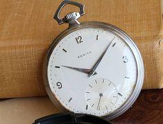 REPOST!!!  Zenith pocket watch in steel.  repost   credit: ID @vintagepocketwatches (Instagram)