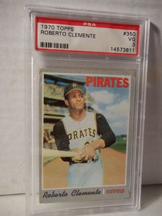 1970 Topps Roberto Clemente PSA VG 3 Baseball Card #350 MLB HOF Collectible #PittsburghPirates