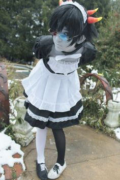 Maidstuck Homestuck Sollux Captor cosplay oh my gog I need to do something like this. o.o