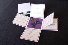 2.5 Exploding Box Scottish Wedding Invitation by EdinburghInvites