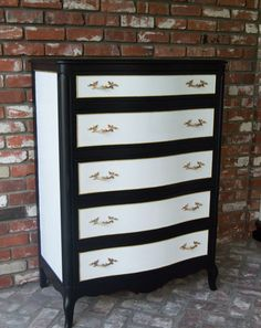 Black and White Dresser by Drexel by MaryBethsPlace on Etsy