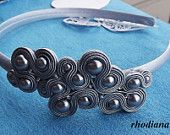 Silver Grey Soutache Headband