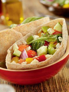 Barquete de vegetais e queijo branco: 343 calorias