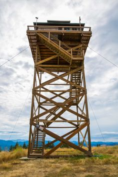 Very cool little house. I would hate to wake up and have to go to the bathroom in the middle if the night though. ~ JM An old fire lookout becomes a tiny house - The Snug Mushroom Cloud, Lookout Tower, Duck Blind, Tower House, Treehouses, Simple House, Camden, Tiny Houses, Square Feet