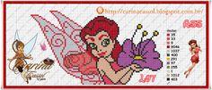 Rosetta Disney Fairies perler bead pattern by Carina Cassol - Pontinhos Mágicos