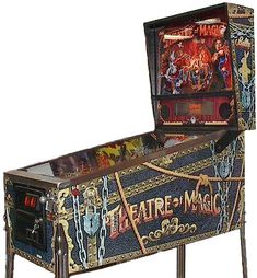 Theatre of Magic is a pinball machine produced by Midway (under the Bally brand name). Description from thepinballcompany.com. I searched for this on bing.com/images