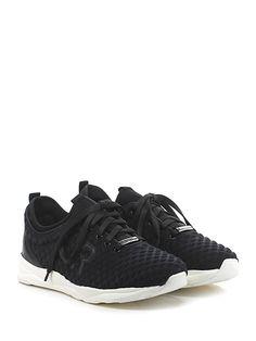 JOHN RICHMOND - Sneakers - Uomo - Sneaker in tessuto tecnico e pelle con suola in gomma. Tacco 35, platform 25 con battuta 10. - BLACK - € 268.00