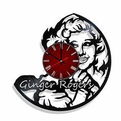 Vinyl record wall clock Ginger Rogers, Ginger Rogers room... https://www.amazon.com/dp/B071KY4R3Z/ref=cm_sw_r_pi_dp_U_x_1uMzAbVYK1QE5