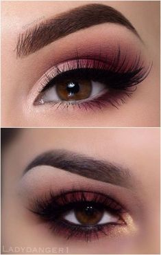 Eyebrows Eye Makeup Burgundy Brown Eyes Eyeliner Black Tan Lashes #eyemakeupsmokey #weddingmakeup
