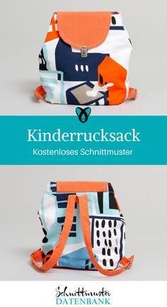 Kinderrucksach nähen mit kostenlosem Schnittmuster / Rucksack für Kinder Freebie