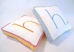 Personalizing your space with #monogram #pillows - in any room! #nursery