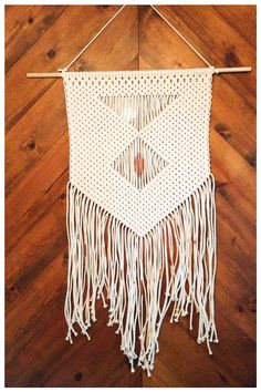 Handmade Macramé Wall Hanging by TheWov on Etsy