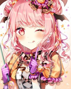 bang dream bandori cute anime girl poppin party hello happy world roselia afterglow pastel pallets Manga Girl, Anime Girl Pink, Anime Girl Neko, Pretty Anime Girl, Beautiful Anime Girl, Anime Art Girl, Anime Love, Anime Girls, Anime Halloween