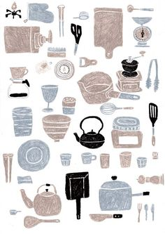 Kitchen Tools Drawings kitchen toolsmasako kubo | illustration | pinterest | kitchens