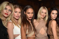 A look at Balmain's after-party with Kendall Jenner, Gigi Hadid, Alessandra Ambrosio, and more in Paris.