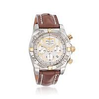 """""""Breitling Chronomat 01 Men's 44mm Chronograph Stainless Steel and 18kt Rose Gold Watch with… #Jewelry #ClearanceJewelry #DiscountJewelry"""