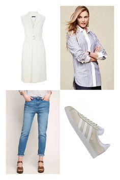 Man nehme trendige Boyfriend-Jeans von Esprit und angesagte Retro-Sneaker von adidas, mische sie mit einer klassischen Hemdbluse von Hilfiger Denim – und fertig ist der entspannte Sommer Style. Wer es eleganter mag, ersetzt die Bluse durch die schicke Long-Weste von s.Oliver.