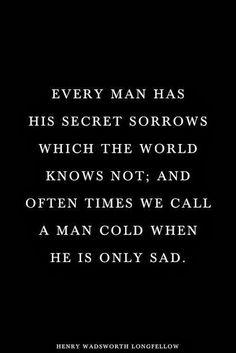 man's secret sorrow