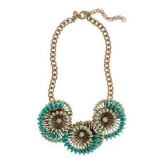 Cactus flower necklace.  love.