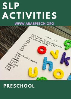 Download this free printable with 1 & 2 syllable words to help you increase verbal imitation & expressive language skills in your speech therapy student struggling w/ autism or a speech delay. Perfect for SLPs doing early intervention and/or speech teletherapy sessions with toddlers and preschool age group. This list is also great for parents to focus on when practicing first words with little ones at home who are nonverbal. #abaspeech #speechtherapy #slp #autism #speechdelay #expressivelanguage Preschool Winter, Preschool Age, Winter Activities, Preschool Speech Therapy, Speech Therapy Activities, Articulation Activities, Language Activities, Toddler Speech, Autism Signs