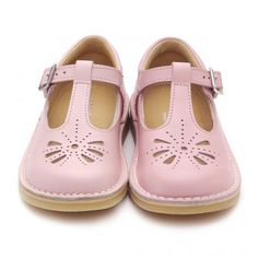 Tea Party, Pink Leather Girls Buckle Sandals - Girls Shoes