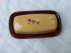 Vintage Ceramic Rooster Butter Dish by TymelessTrinkets on Etsy