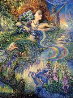 Fantasy World of Josephine Wall Josephine Wall, 3d Fantasy, Fantasy World, Mystique, Fantasy Paintings, Fairy Art, Magical Creatures, Faeries, Amazing Art