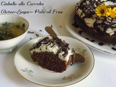 TanaLiberaTutti - Cucina Vegana: Ciambella con farina di carrube ricoperta di crema alle mandorle